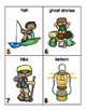 Camping Words for writing center and write-the-room