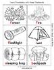 Camping Worksheet Set with Bingo Game