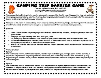 Camping and Fishing Barrier Game