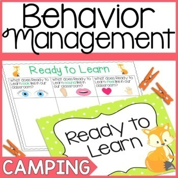Camping and Forest Themed Behavior Clip Chart