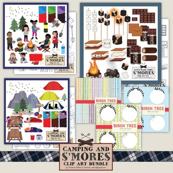 Camping and S'Mores Clip Art Bundle