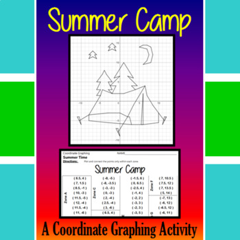 Summer Camp - A Summer Time Coordinate Graphing Activity