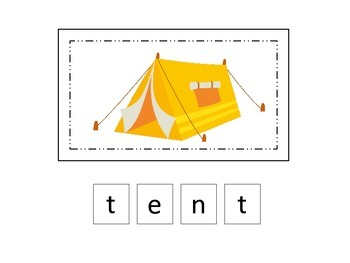 Camping themed Match the Letters two page preschool activi