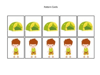 Camping themed Pattern Cards #1 preschool printable activi