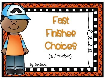 Can Do - Fast Finisher Choices (A Freebie)