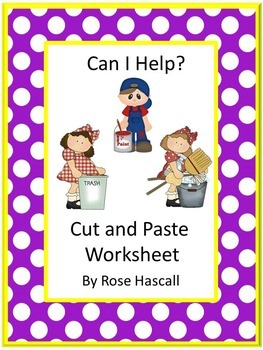 Life Skills Can I Help, Cut and Paste No PREP Printables f