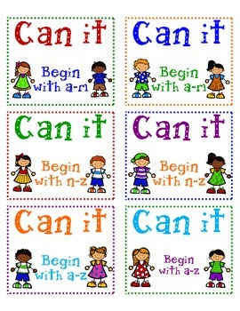 Can It! Beginning Sounds labels