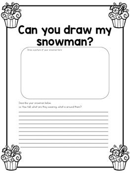 Can You Draw My Snowman - Partner Winter Activity