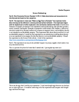 Can an egg float in water? Density Experiment Science Note