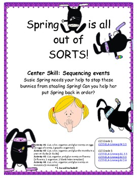 Can you help Susie SAVE SPRING? Sequencing Activity! Commo