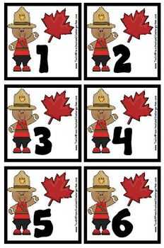 Canada Day Celebration Calendar Pieces - Bonus Maple Leaf