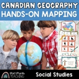 Canada Mapping Task Cards and Hands On Geography Games
