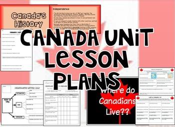 Canada Unit Lesson Plan - BUNDLE!