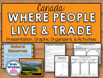 Canada: Where People Live and Trade (SS6G6)