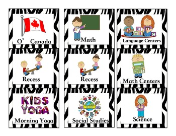 Canadian Zebra Jungle Schedule/Timetable, with pictures, k