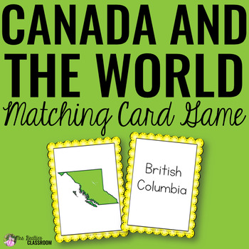 Canada and the World Matching Cards