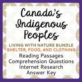 Canada's Native Peoples Living with Nature Bundle Clothing