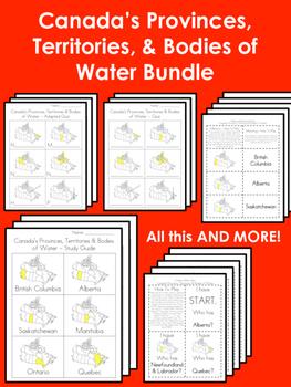Canada's Provinces, Territories & Bodies of Water BUNDLE!