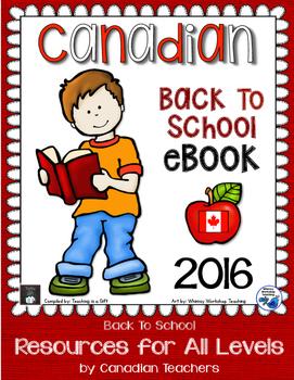 Canadian Back To School eBook 2016