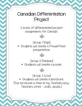 Canadian Differentiation Activity