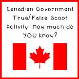 Canadian Government True/False Scoot Activity