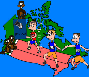 Canadian History Cartoon - The Race of the Fur Trade