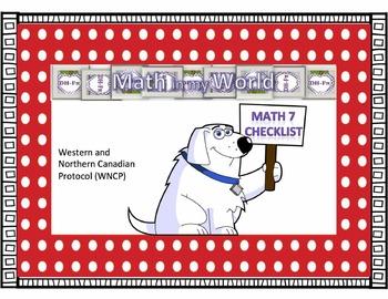 Canadian Math 7 Curriculum Checklist (WNCP)