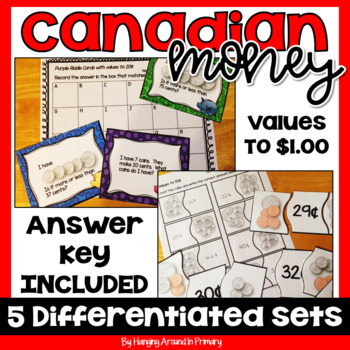 Math Centers for Canadian Money ~ MEGA Bundle