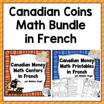 Canadian Money (Coins) Mega Math Bundle in French