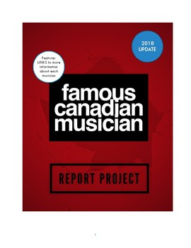 Canadian Musician Research Report and Presentation Assignment