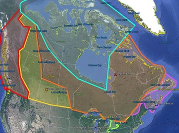 Canadian Physical Regions Google Earth Tour and Worksheet