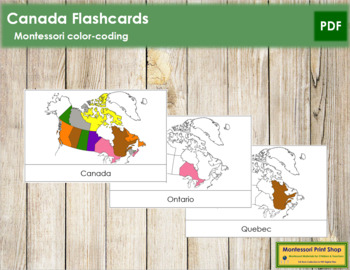 Canadian Provinces and Territories: Flash Cards