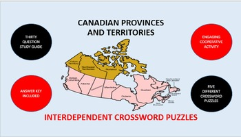 Canadian Provinces and Territories: Interdependent Crosswo