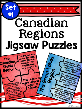 Canadian Regions Jigsaw Puzzle: Set #1