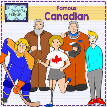 Canadian people - famous - Teacher's clipart