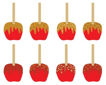 Candy And Caramel Apples Clipart, Candy, Caramel, Apples,