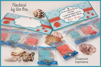 Candy Bag Topper - Coordinates with Nautical by the Sea Cl