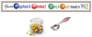 Candy Banner of Thanks