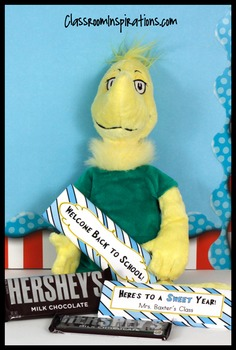Candy Bar Wrapper – Coordinates with Seuss-like Colors Cla