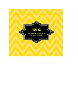 Candy Bar Wrapper Thank You Note with Thank you Message