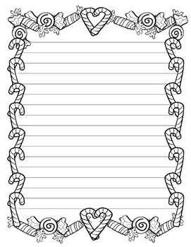 Candy Cane Christmas Writing Paper (Stationary)