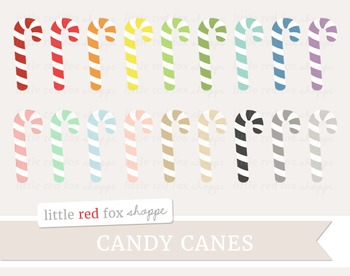 Candy Cane Clipart; Christmas