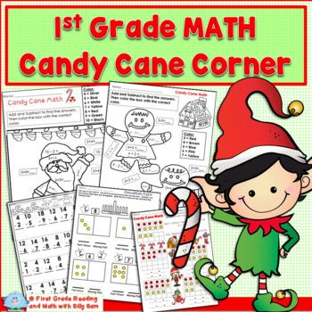 Holidays Around the World MATH  1st Grade Candy Cane Corner