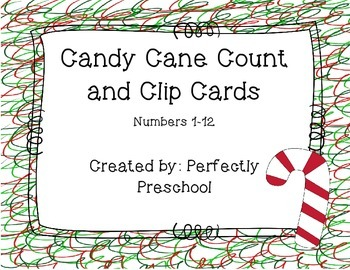 Candy Cane Count and Clip Cards