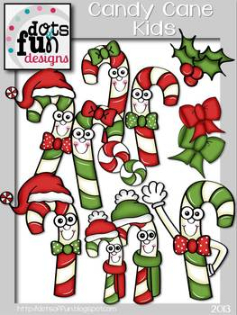 Candy Cane Kids ~ Dots of Fun Designs~