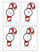 Candy Cane Matching Letter Clip Cards
