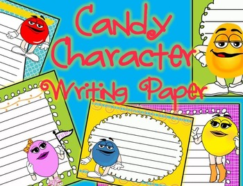 Candy Character Themed Writing Paper - Literacy - Writing Centers