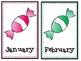 Candy Classroom Decor Pack- name tags, birthday decor, alp