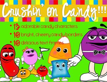 Candy Clipart - candy characters, borders & frames