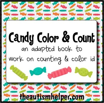 Candy Color & Count - Adapted Book for Children with Autism